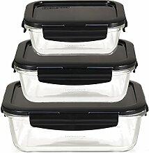 LOCK & LOCK Frischhaltedosen aus Glas mit Deckel,