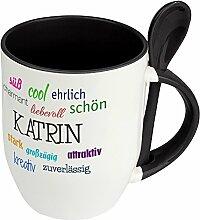 Löffeltasse mit Namen Katrin - Positive