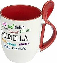 Löffeltasse mit Namen Mariella - Positive
