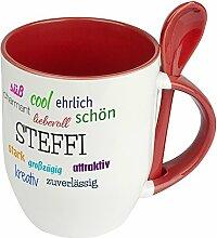 Löffeltasse mit Namen Steffi - Positive