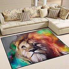 Löwe Bunte Teppich 4 'x 6', pädagogische