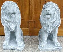 Löwe Dekofigur Höhe 50 cm 2 Stück Se