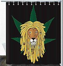 Löwe Duschvorhang Marihuana Afrikanischer