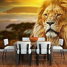 Löwe Wandbild Afrikanische Tierlandschaft Foto-Tapete Kinder Schlafzimmer Haus Dekor Erhältlich in 8 Größen Riesig Digital