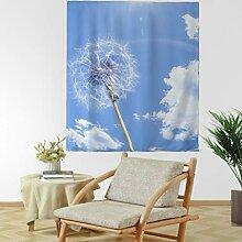 Löwenzahn Himmel Wolke Wandteppich Wandbehang
