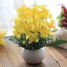 LOF-fei Künstliche Blume Phalaenopsis in grüne