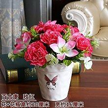 LOF-fei Künstliche Blume Rose Esstisch Zubehör