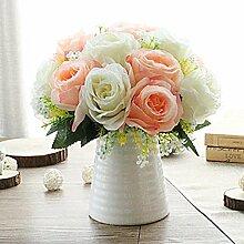 LOF-fei Künstliche Blume Rose Home Decor Seide