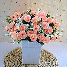 LOF-fei Künstliche Blume Rose Home Decor Topf