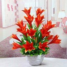 LOF-fei Künstliche Blumen Lilie Tisch Zubehör