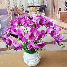LOF-fei Künstliche Blumen Orchideen Seide Decor