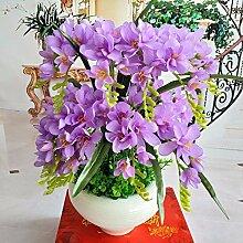 LOF-fei Künstliche Blumen Orchideen Seidentisch