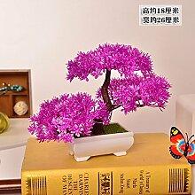 LOF-fei Künstliche Kiefer Bonsai Pflanze Esstisch