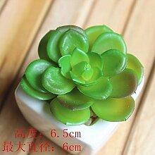 LOF-fei Künstliche Kiefer Pflanze bonsai Home Decor Esstisch Zubehör,Grün Keramik Blumentöpfe D