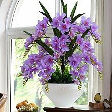 LOF-fei Künstliche Orchidee Seide Home Decor