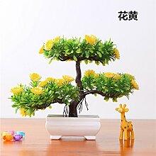 LOF-fei Künstliche Pflanzen Bonsai Kübelpflanzen