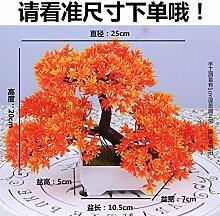 LOF-fei Künstliche Pflanzen Topfpflanzen Home Büro Dekoration Esstisch Zubehör,orange Quadrat Keramik Blumentöpfe