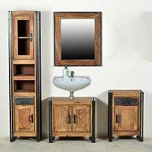 Loft Design Badmöbel Set aus Sheesham Massivholz