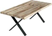 Loft Design Esstisch aus Eiche Massivholz und