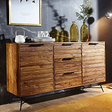 Loft Design Sideboard aus Sheesham Massivholz und
