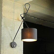 Loft Lampe Wandleuchte Schwarz Gold Metall und