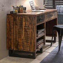 Loft Schreibtisch aus Mangobaum Recyclingholz 120
