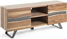 Loft TV Lowboard aus Akazie Massivholz 160 cm