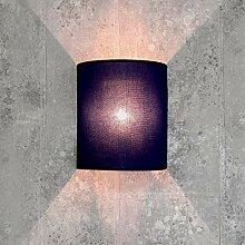 Loft Wandlampe Stoff Schirm Blau halbrund E27