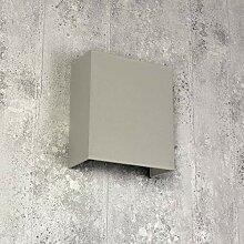 Loft Wandlampe Stoff Schirm Gipsgrau Loft Design