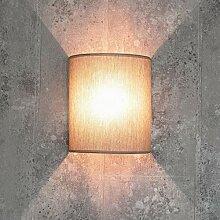 Loft Wandlampe Stoff Schirm halbrund E27 in Grau