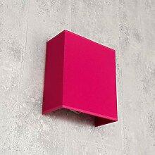 Loft Wandleuchte ALICE Stoff Schirm Pink E27 eckig