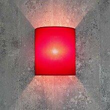 Loft Wandleuchte Stoff Schirm Pink halbrund E27