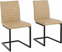 Loft24 2er-Set Schwingstuhl Stuhl Freischwinger