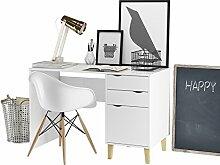 Loft24 Candy Schreibtisch weiß Bürotisch
