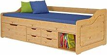 Loft24 Funktionsbett 90x200 cm Bett Bettkasten