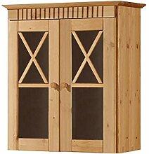 Küchenschrank 40x75x31 Regal Wandschrank Tür in grau Hängeschrank