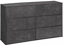Loft24 LIUS Kommode Schubladenkommode Sideboard