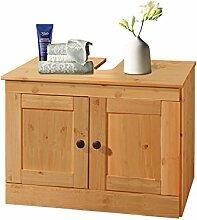 Loft24 MINNA Waschbeckenunterschrank Waschtischunterschrank Unterschrank Badmöbel Badschrank Kiefer (gebeizt geölt)