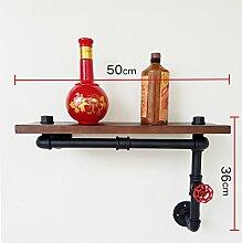 LOFTzs Loft Industrie-Retro-Möbel Bücherschrank Wasserrohr Eisen Rahmen Racks kreative Display Regale Retro Dekoration ( größe : 50*36cm )