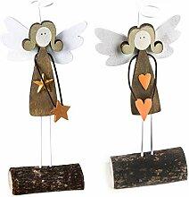 Logbuch-Verlag 2 Engel Paar Figur klein mit Stern