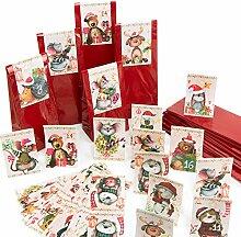 Logbuch-Verlag 24 DIY Adventskalender Tüten mit