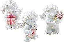 Logbuch-Verlag 3 kleine Mini Engel 5 cm weiß rosa