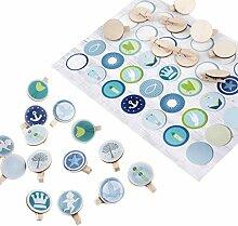 Logbuch-Verlag Set 70 Sticker blau grün mit