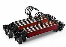 logei® 10St Holz Hosenbügel Rockbügel mit