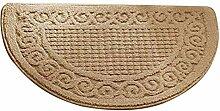 Loghot Fußmatte aus Polypropylen, halbrund,