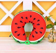 Logo 3D-Fruchtmuster Kissen U-förmigen