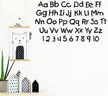 LOIUYT Englische Buchstaben und Zahlen