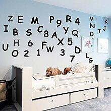 LOIUYT Kinderzimmer Dekoration abnehmbare