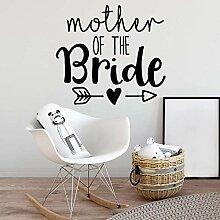 LOIUYT Kreative Mutter Mutter Wandaufkleber