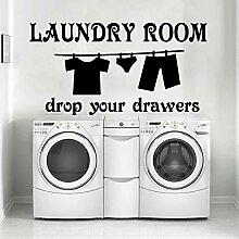 LOIUYT Kreative Waschküche Vinyl Küche